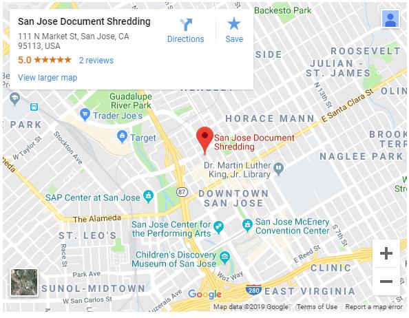sanjosedocumentshredding map